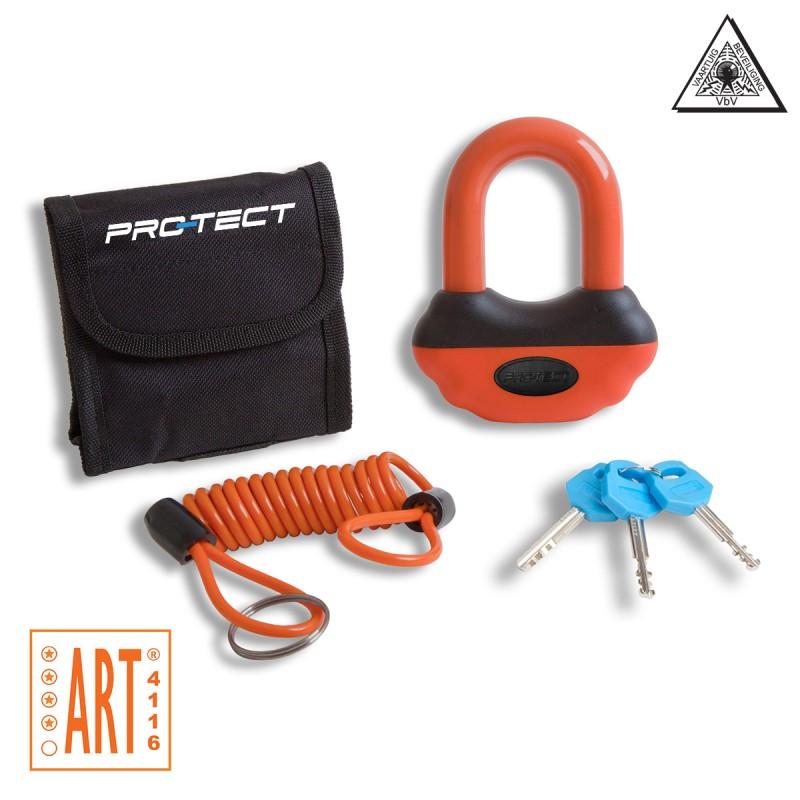 Schijfremslot Pro-Tect Topaz ART-4 keurmerk oranje
