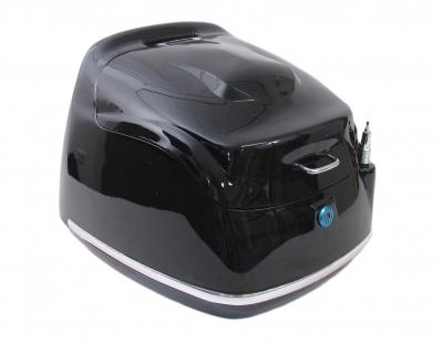 Topkoffer retro scooter china zwart antenne
