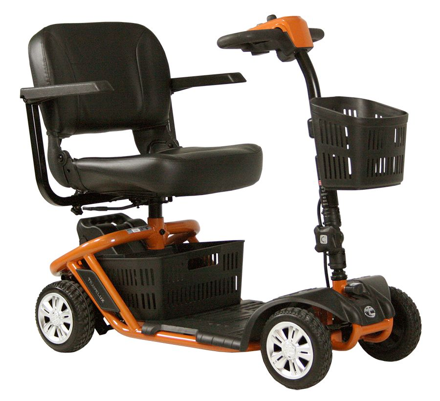 Scootmobiel Travelux Zoom Mini opvouwbaar Gallardo Orange