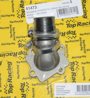 Spruitstuk Minarelli Horizontaal 20MM Top racing