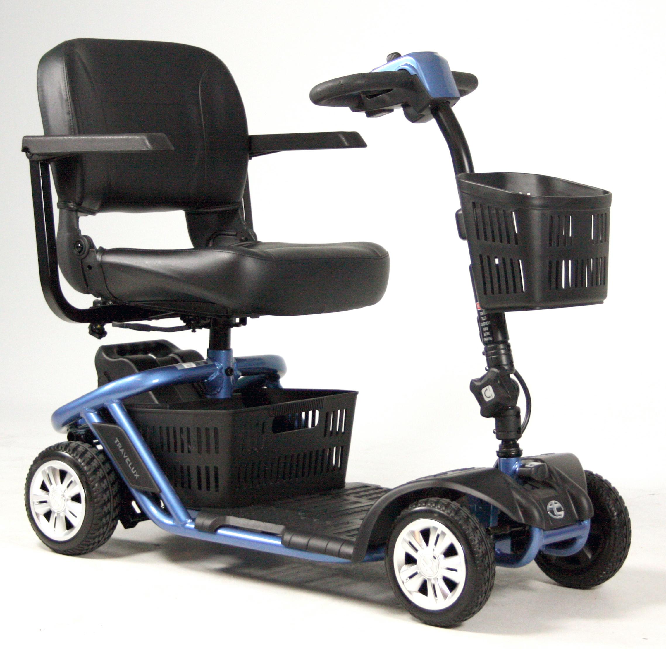 Scootmobiel Travelux Zoom Mini opvouwbaar Cooper Blue