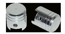 Ventieldop set model zuiger aluminium 2 stuks
